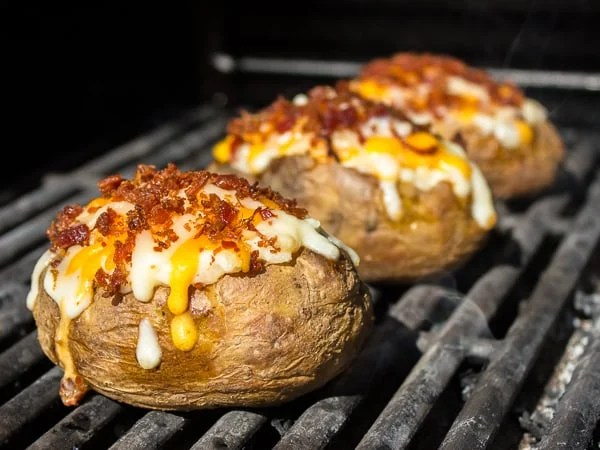 Grilled Cheddar Bacon Twice Baked Potatoes-3
