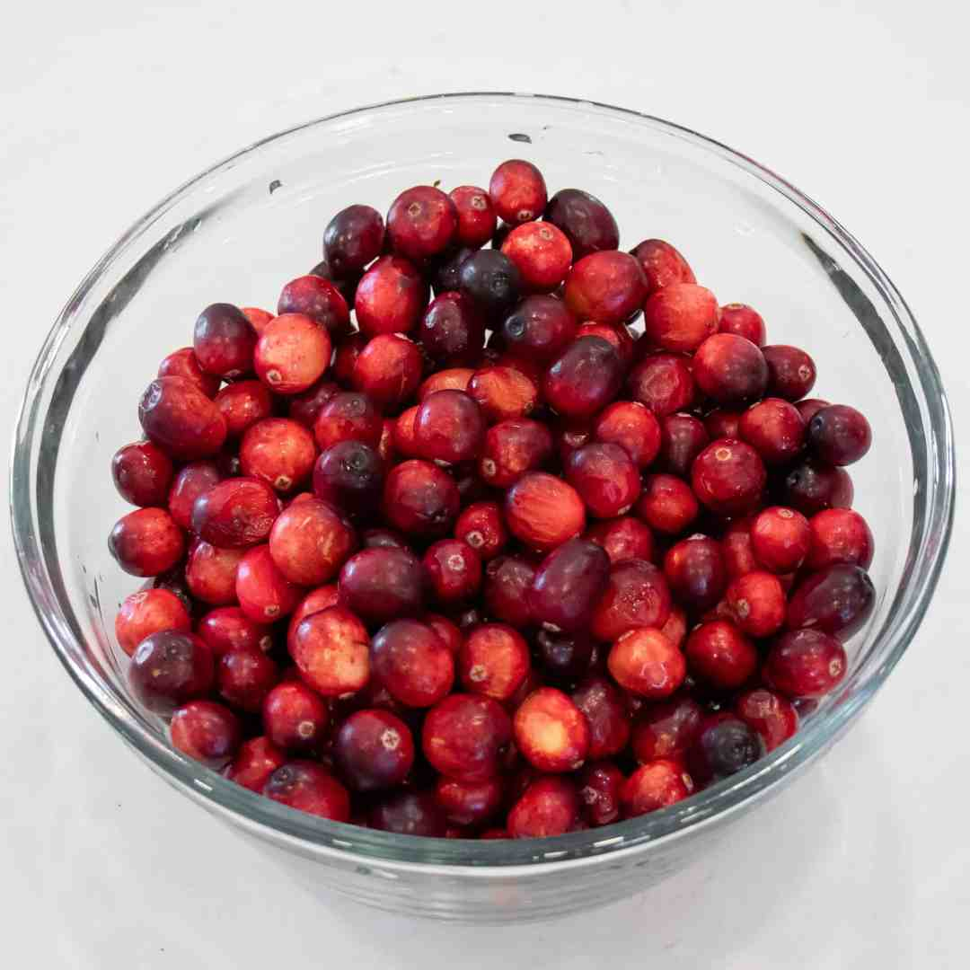 Fresh cranberries make the best sauce. Rinse them ahead