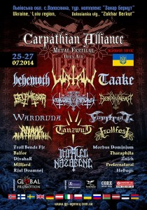 CARPATHIAN ALLIANCE METAL FESTIVAL 2014
