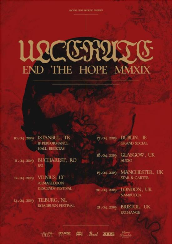 Ulcerate European Tour 2019