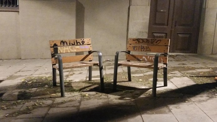 Benches - barcelona - street view - the black snack