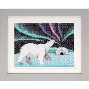Polar Bear Blackwork Embroidery Kit