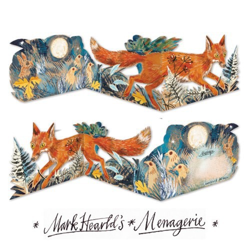Mark Hearld fox collage greeting card