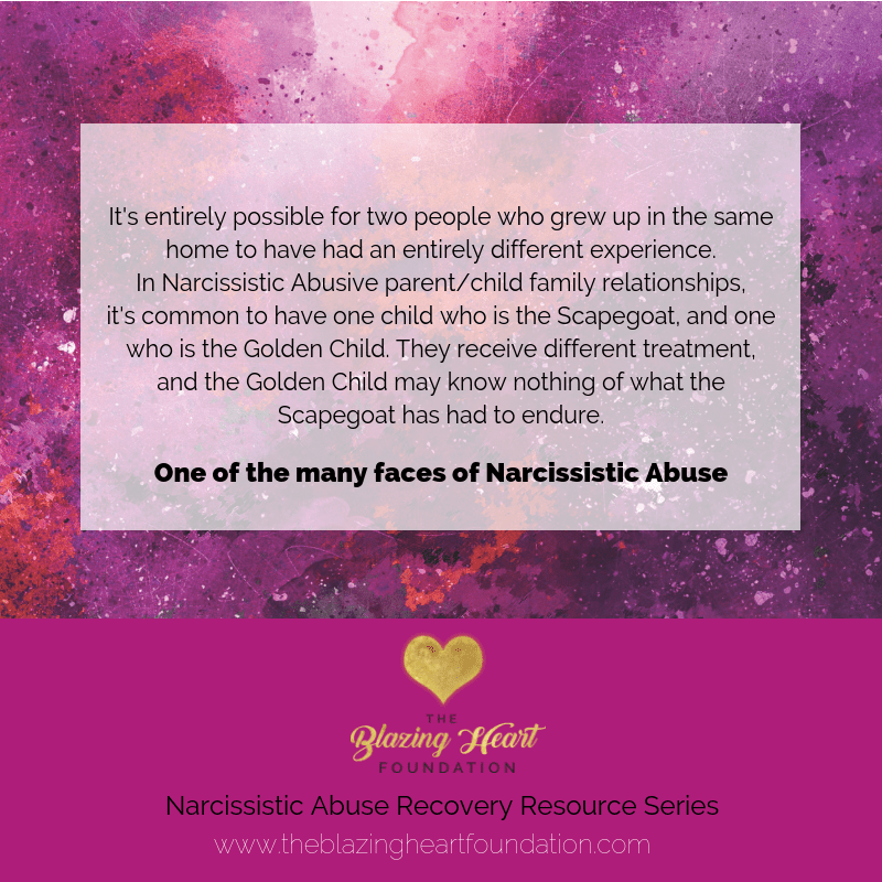 Narcissistic Abuse & Childhood Trauma – The Golden Child / Scapegoat Phenomenon…
