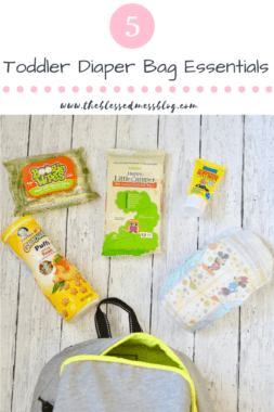 5 Toddler Diaper Bag Essentials