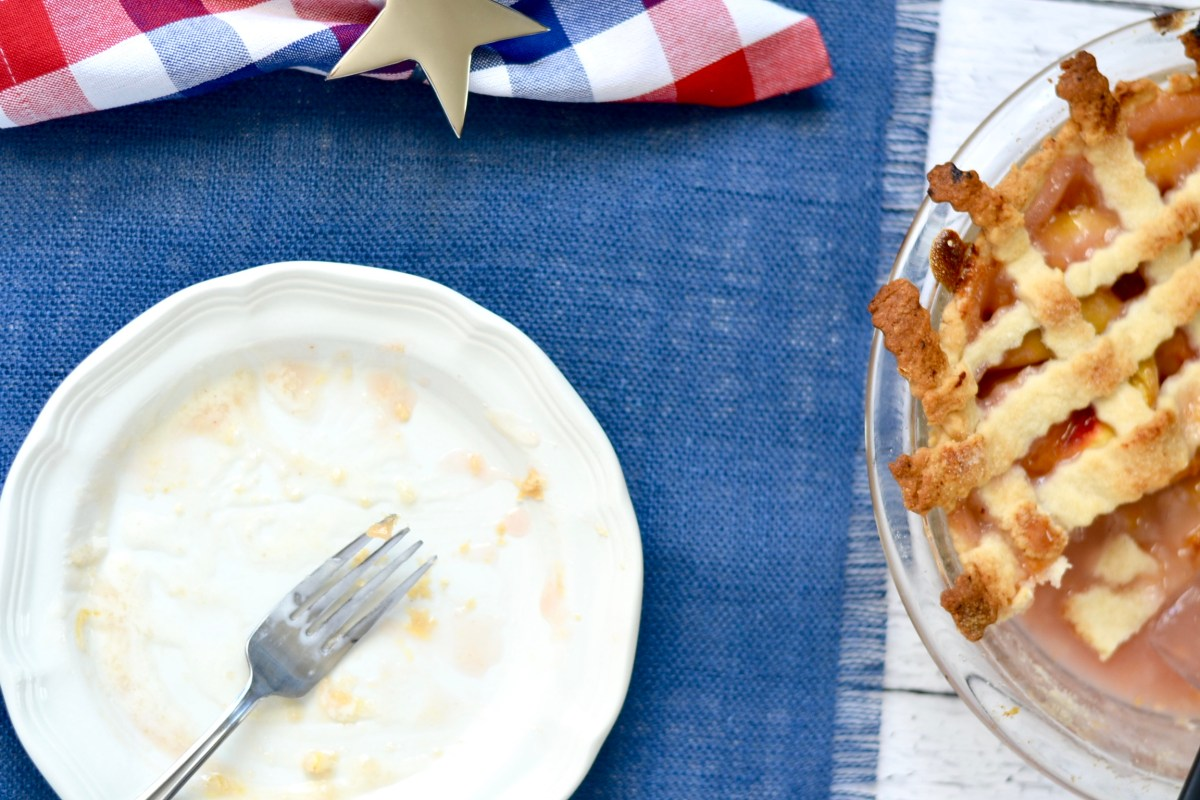 Classic Peach Pie with Flaky Lattice Crust - Peach pie and crust recipe - Southern Food - The Blessed Mess - www.theblessedmessblog.com