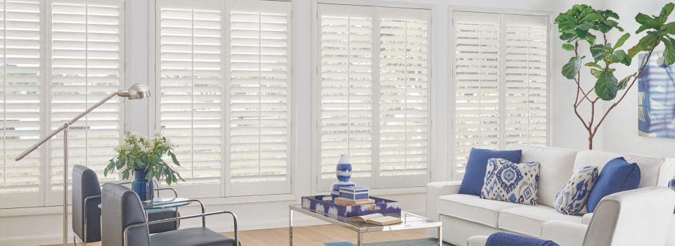 Graber Living Room Wood Shutters