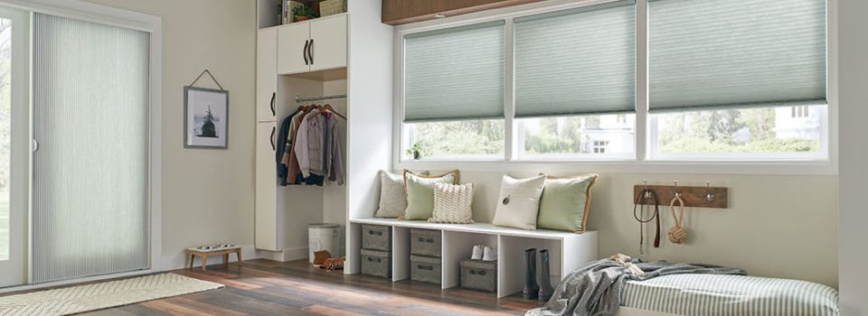 Mudroom with Cellular shades by Comfortex