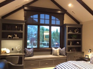 brown roller bedroom