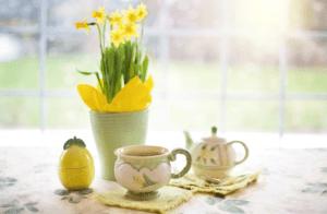 tea and flowe