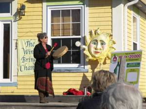 The Mi'kmaq Honour Song opened the award ceremony at the South Shore Waldorf School