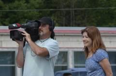 Colleen Jones and CBC cameraman