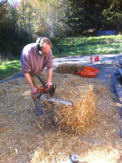 Chopping straw