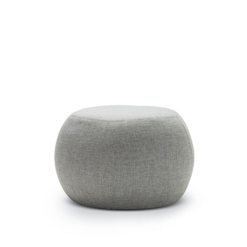 venus round ottoman pouf light grey
