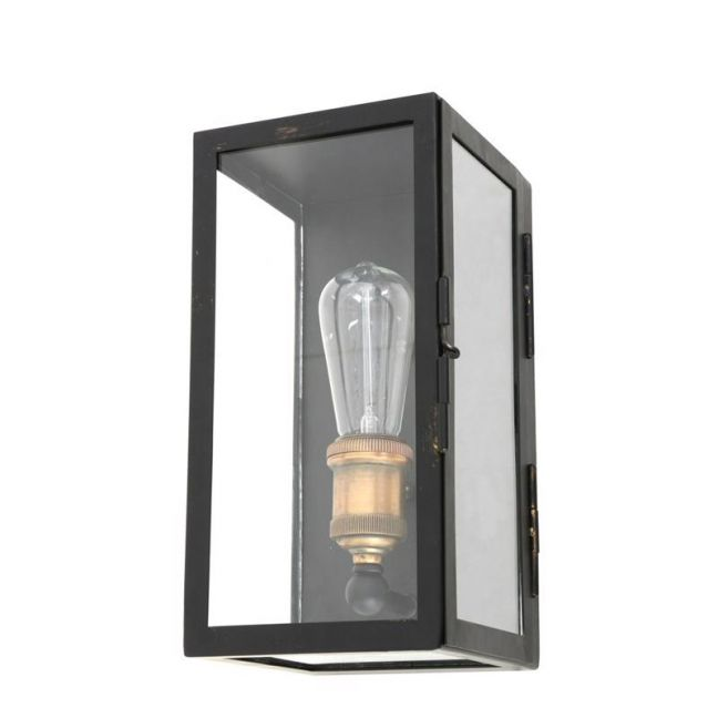 Southampton 1 Light Small Wall Sconce in Antique Black ... on Small Wall Sconce Light id=94792