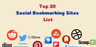 SEO Top 20 High PR Social Bookmarking Sites List 2019