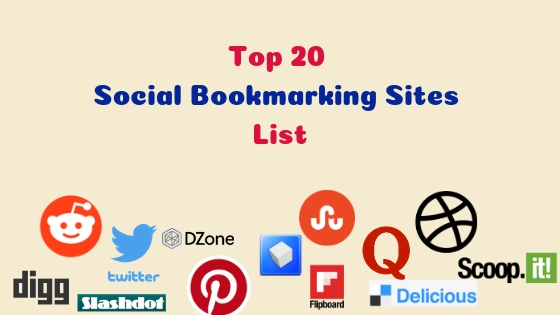 Top 20 High PR Social Bookmarking Sites List 2019