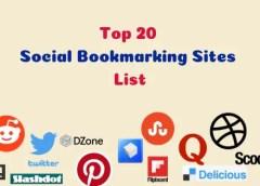 Top 20 High PR Social Bookmarking Sites List 2019