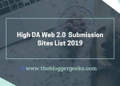 High DA Web 2.0 Submission Sites List 2019-20