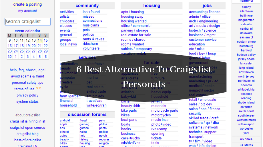 6 Best Alternative To Craigslist Personals To Post Free Ads