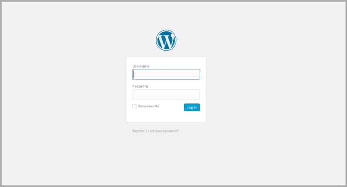 how do i self host my wordpress blog - login page