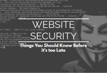 Website Security: Things You Should Know Before it's Too Late
