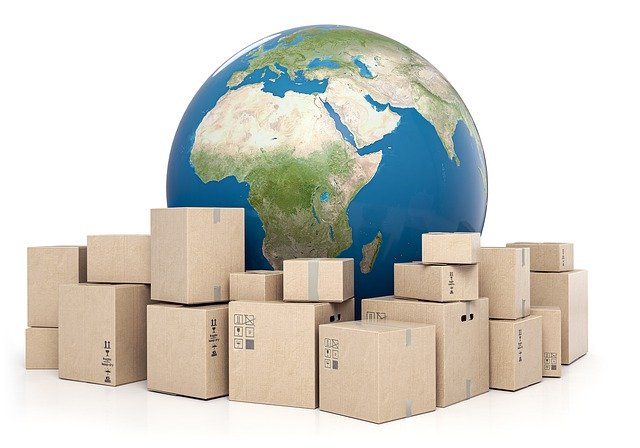 Packages ready for export and import from and into Saudi Arabia.