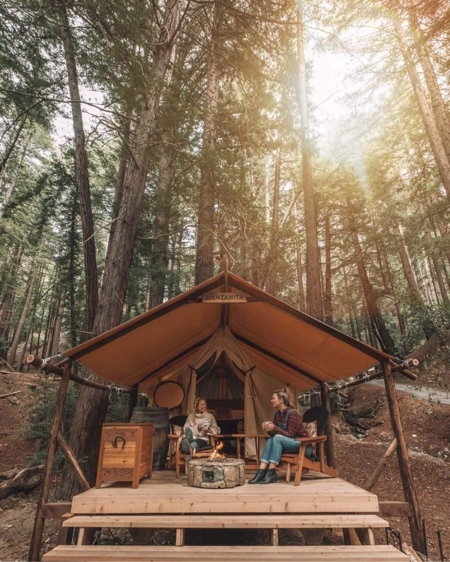 Glamping Tents in Big Sur