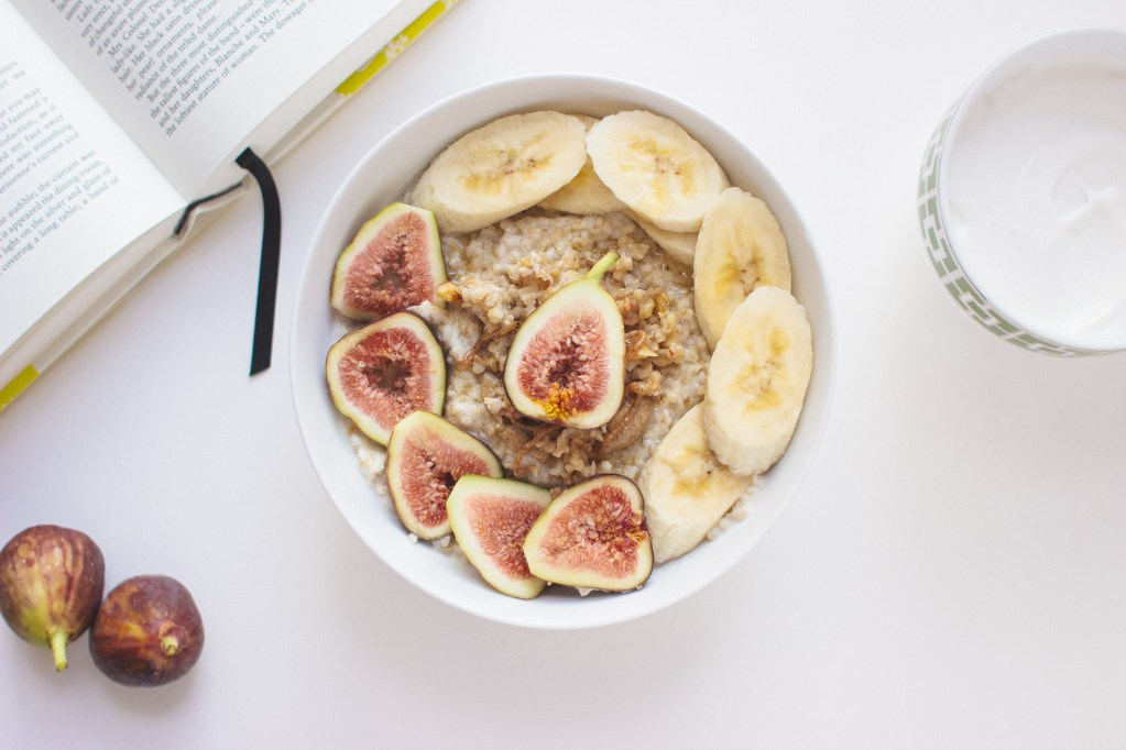 Steel-Cut Oatmeal with Blackened Figs