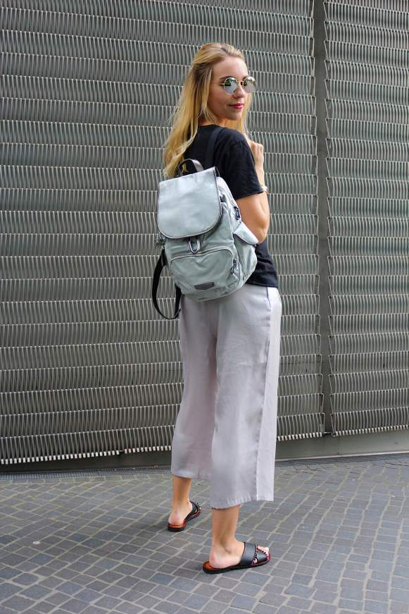 Taschen metallic look silber