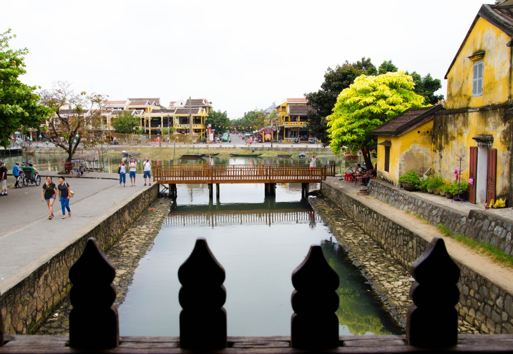 The river area in Hoi An is a great place for walks