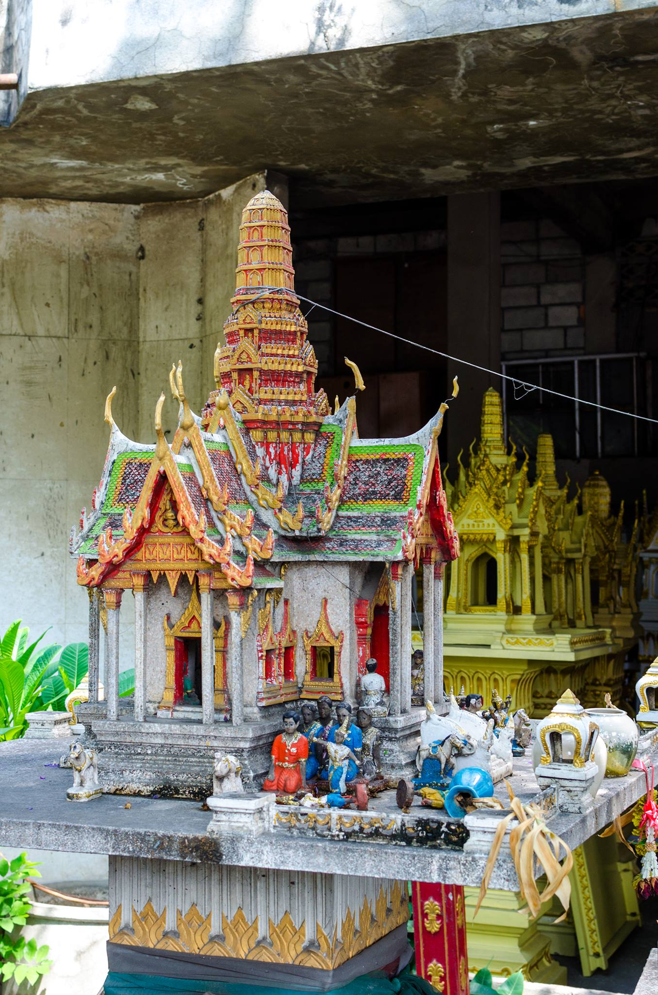 Spirit Houses in Thailand are everywhere.