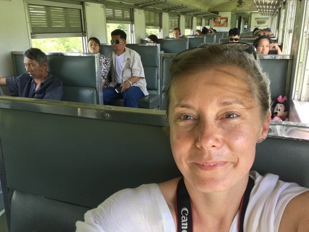 joanna rides the death railway in kanchanaburi