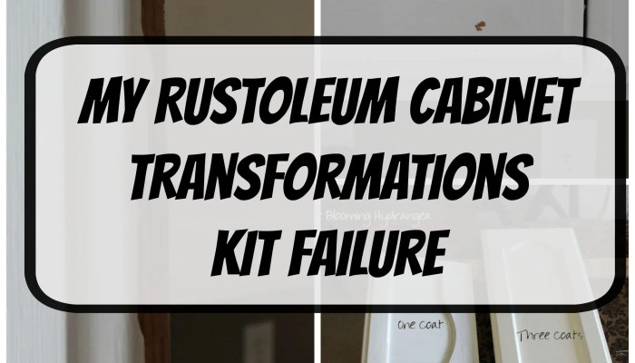 My Kitchen Failure and Rustoleum Cabinet Transformations