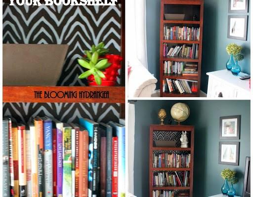 zebra back of bookcase