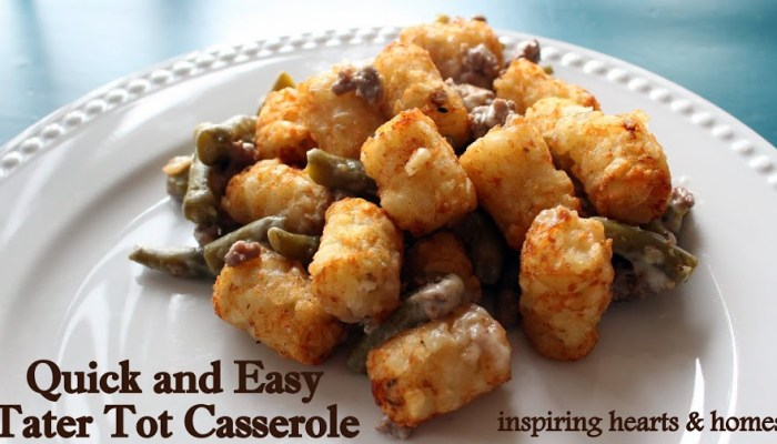 tatertot casserole easy dinner