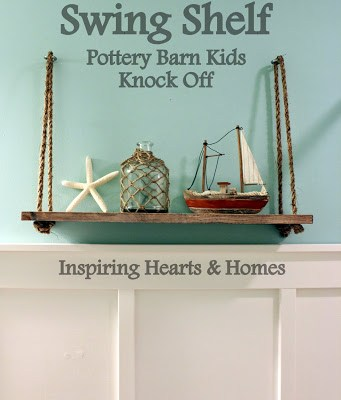 Swing Shelf (Pottery Barn Kids Knock Off)