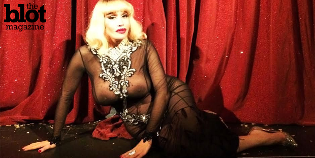 In Paris for a private Fashion Week dinner party, Gazelle Party took in the unforgettable burlesque boat show of transgender goddess Allanah Starr.  (Photo by Gazelle Paulo)
