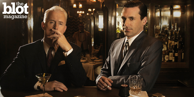 The bottles are empty after seven seasons, but we're not ready to go home. Let's find one more drink and revel in our favorite drunken 'Mad Men' moments. (AMC photo)