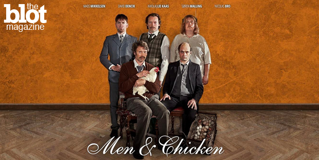 Seductive Mads Mikkelsen of 'Hannibal' plays against type in the hilarious dark comedy 'Men & Chicken' by Oscar-winning director Anders Thomas Jensen. (Photo courtesy 'Men & Chicken')