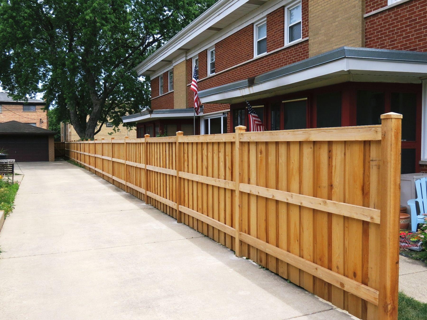 Bob Jaacks Rustic Wood Fencing Decks Cedar Board On Batten Solid Top Fence Image Proview