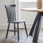 Spindle Back Dining Chair Black The Blue Door