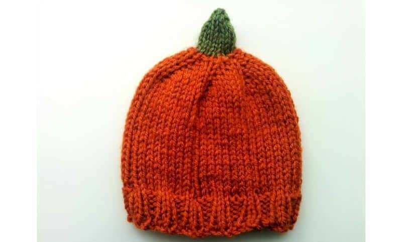 Free Knitting Pattern Baby Pumpkin Beanie