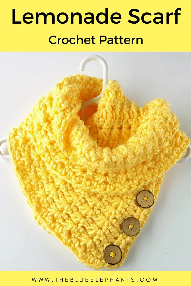 crochet pattern for lemonade scarf