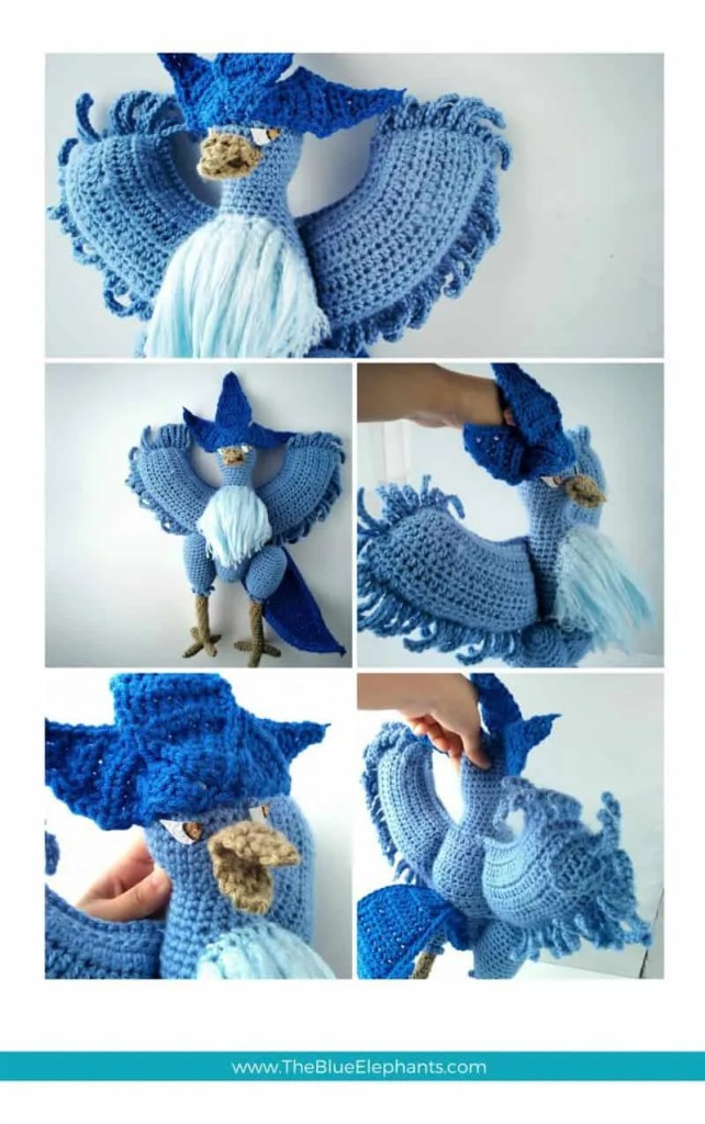 crochet articuno pattern