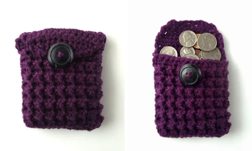 trinity stitch coin purse