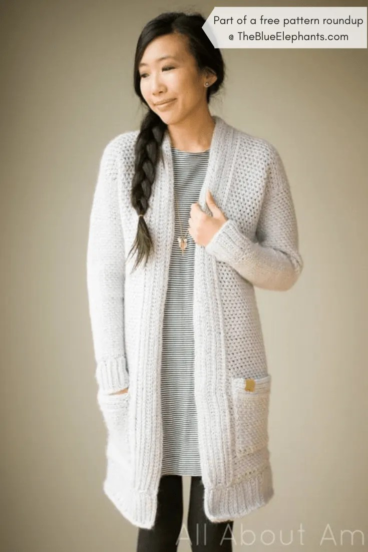20+ Free Crochet Sweater Patterns for Adults and Kids! |