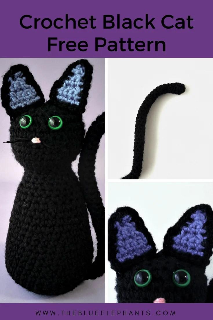 Free Crochet BLack Cat Pattern