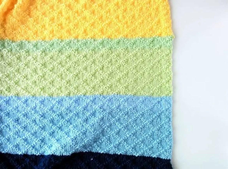Dina Blanket: Super Easy Knit Baby Blanket Pattern |