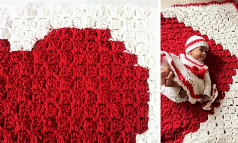 C2c heart blanket pattern dt1010fo